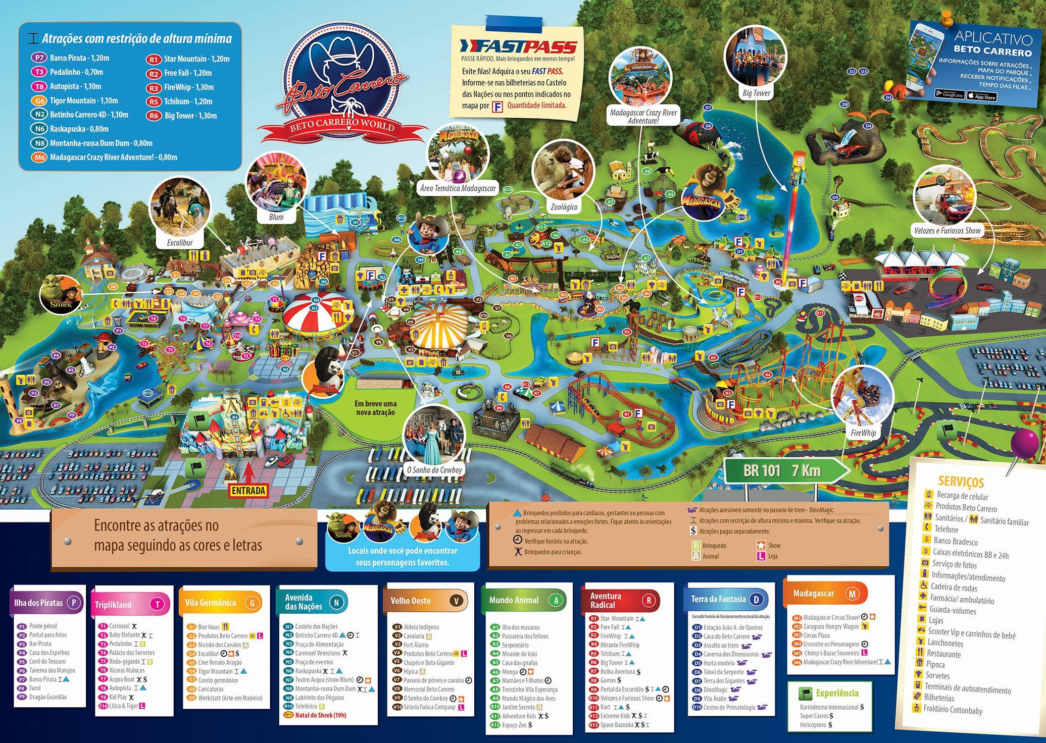 Beto Carrero Pasaulio Zemėlapis Zemėlapis Beto Carrero World